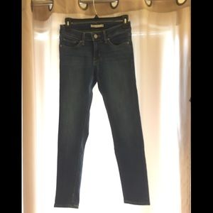 Levi's 711 ankle skinny selvedge jeans - size 26